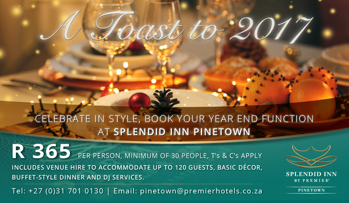 Splendid Inn Pinetown Year-End Function Special