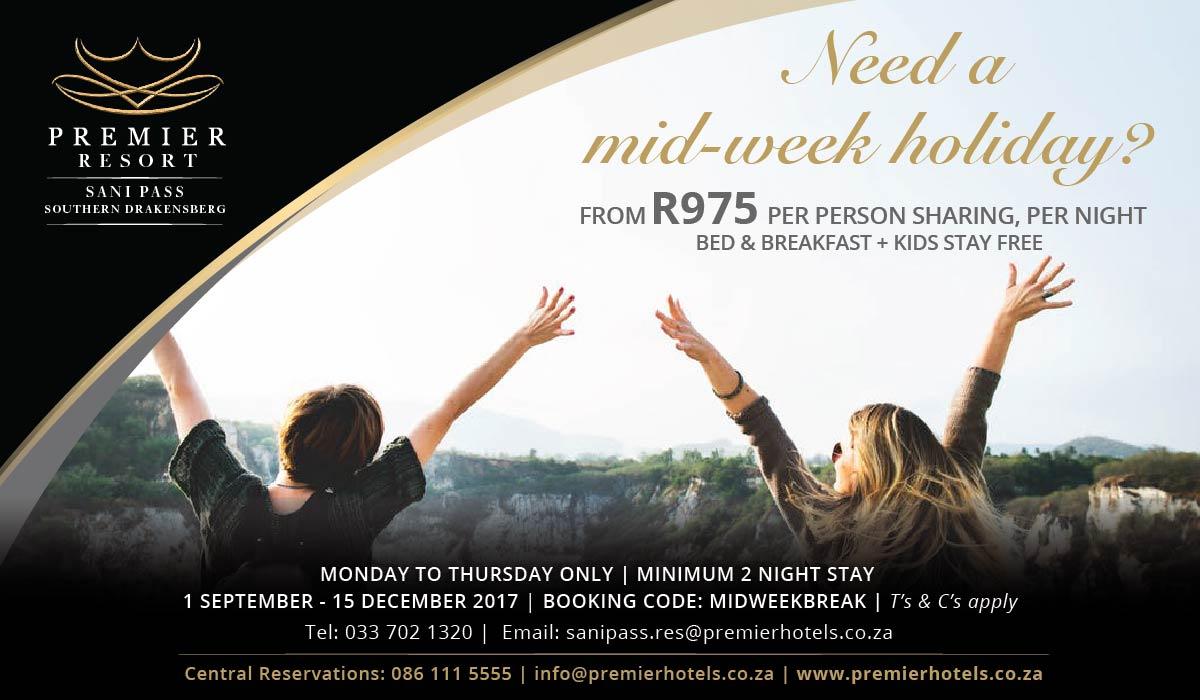 Premier Resort Sani Pass mid-week Special