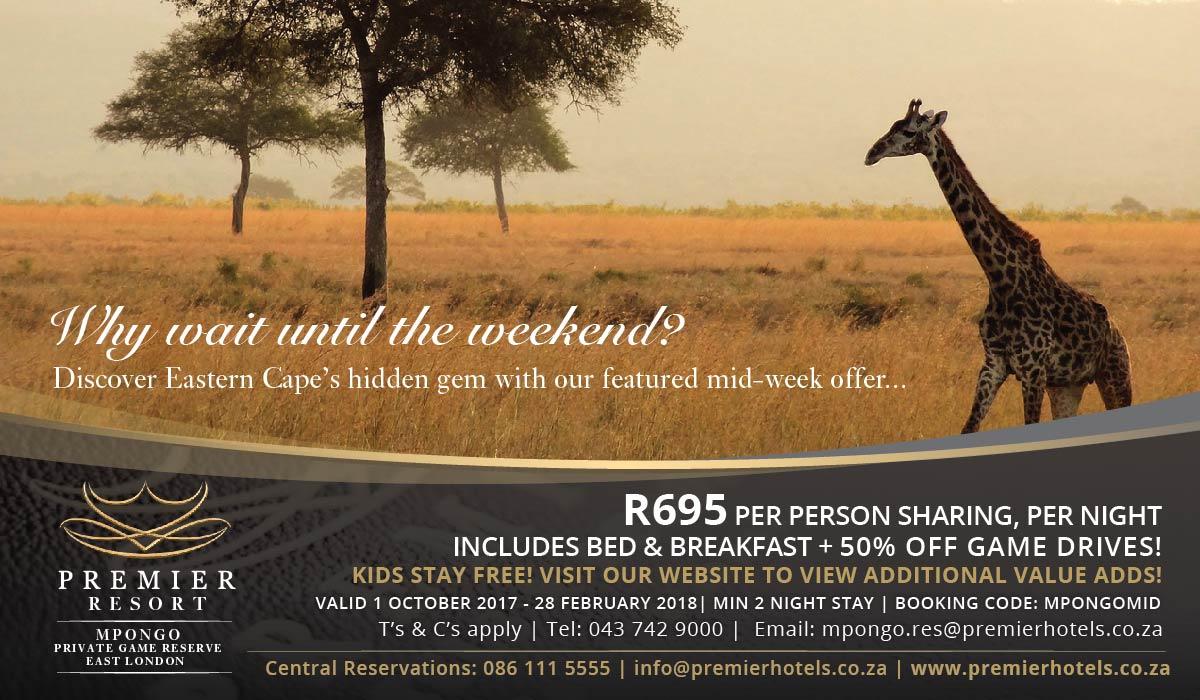 Premier Resort Mpongo Mid Week Special