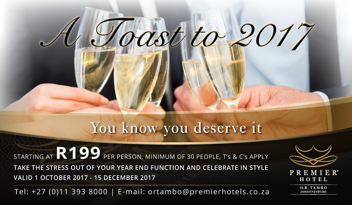 Premier Hotel OR Tambo Year End Function Special