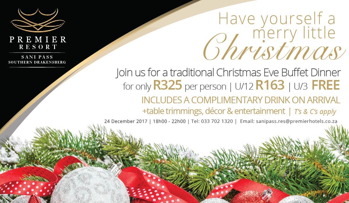 Premier Resort Sani Pass Christmas Eve Dinner