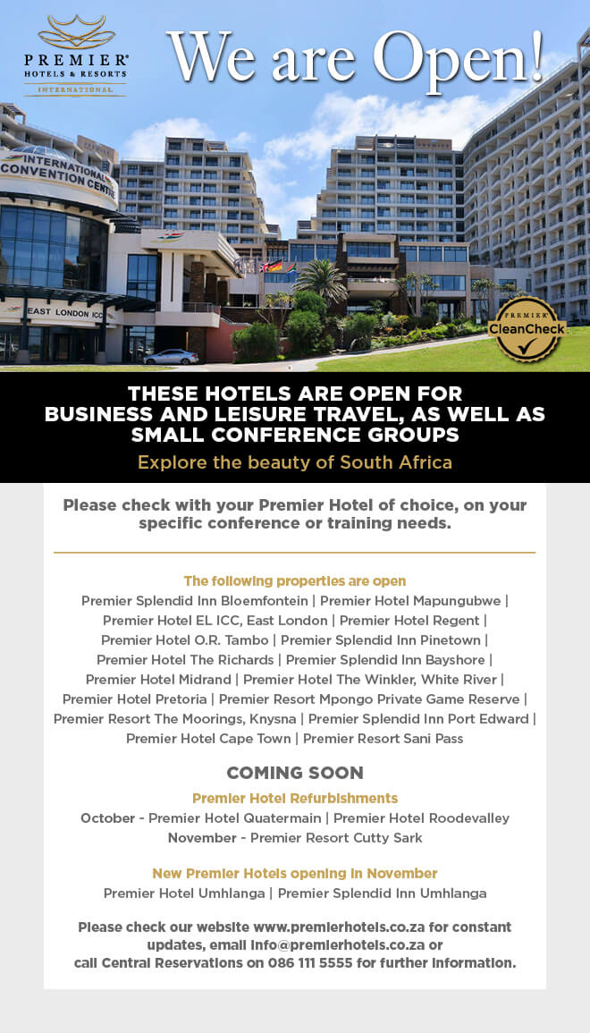 Premier - Provisional Hotel Re-openings
