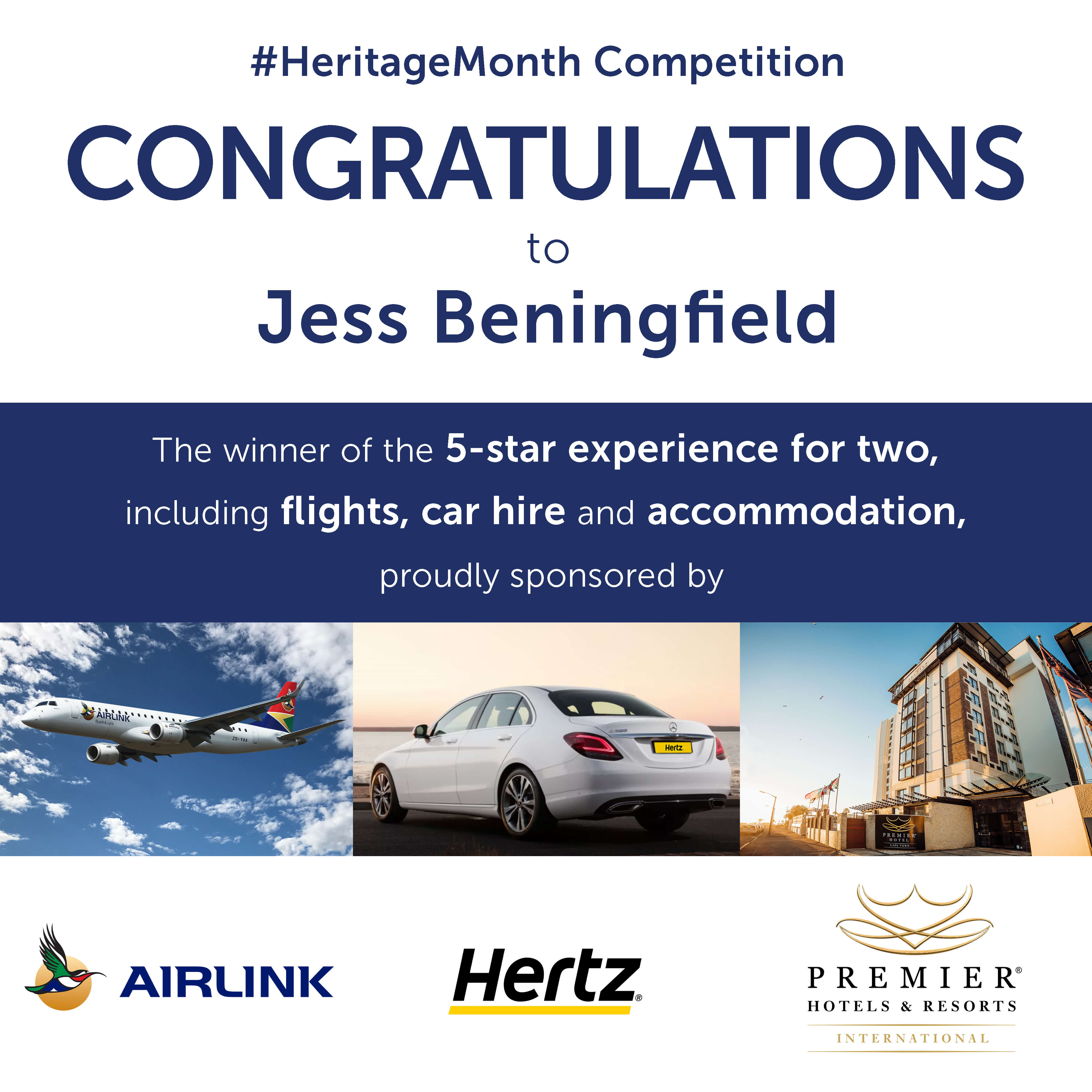 Win big this Heritage Day with Premier Hotels, Airlink and Hertz